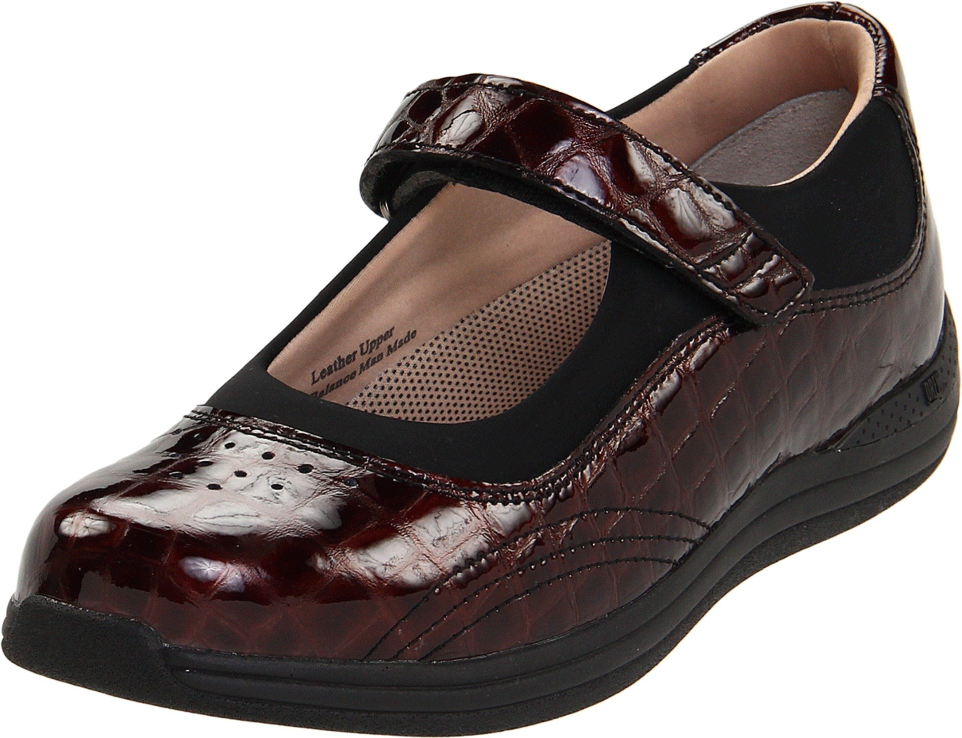 Drew Shoe Women's Rose Mary Jane,Brown Croc,9.5 WW US