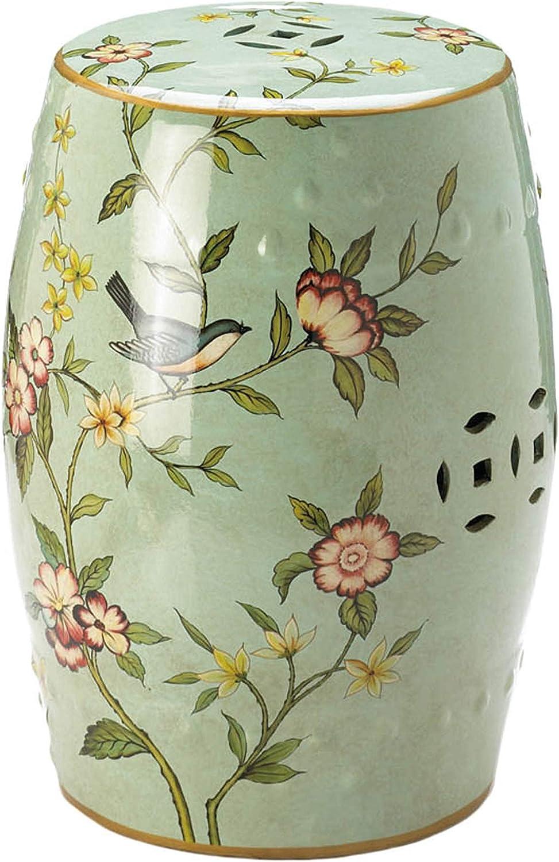 """Accent Plus Floral Garden Decorative Stool 13.25x13.25x18"""""""