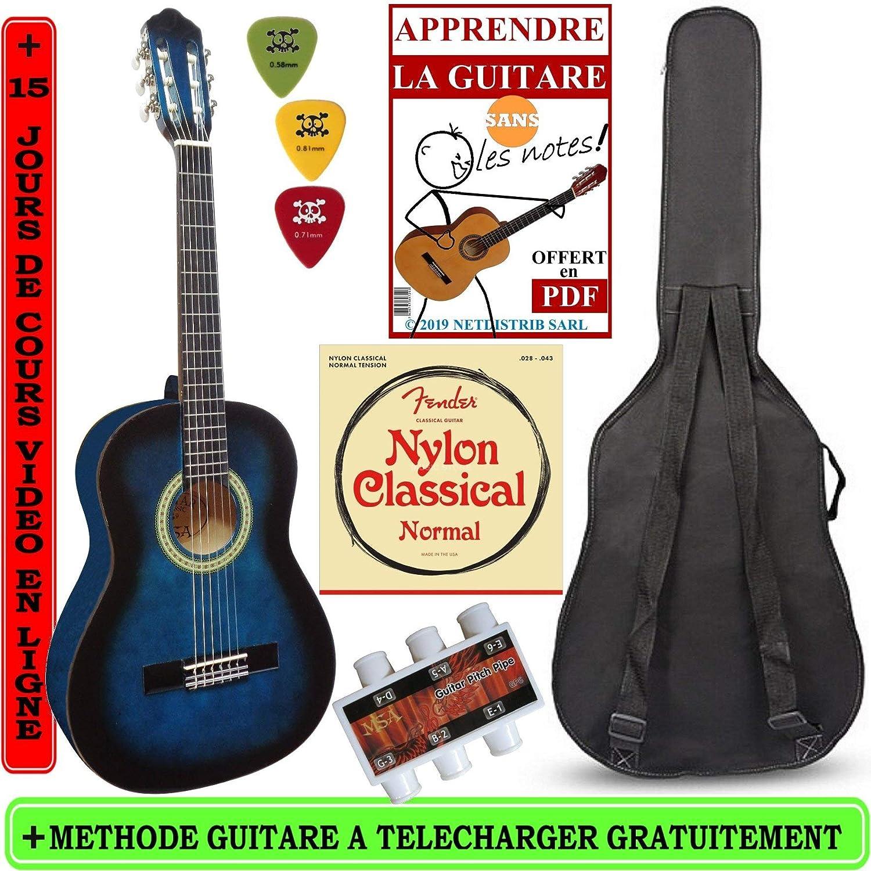 MSA-Guitarra clásica 1 y 2 para niño con 3 accesorios 6-9ans ...