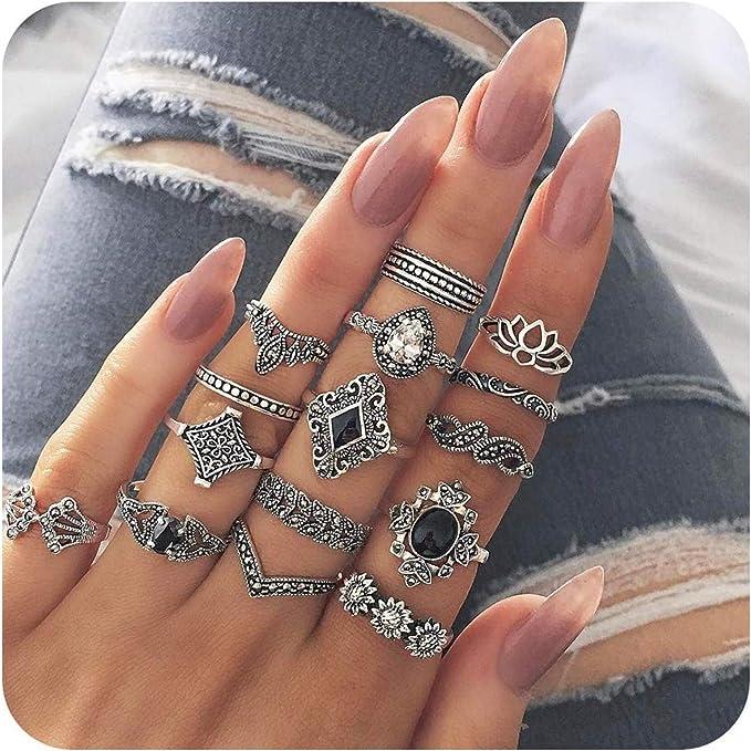 Nail frame cone  ring set of 5
