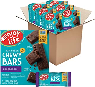 product image for Enjoy Life Foods Chewy Bars, Cocoa Loco Nut Free Bars, Soy Free, Dairy Free, Non GMO, Gluten Free, 6 Boxes (30 Bars Total) (Pack of 6)