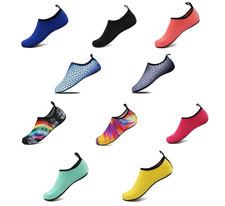 AoSiFu Barefoot Water Shoes Aqua Socks Surf Pool Yoga Beach Swim Exercise for Mens and Womens AoSiFu-1801