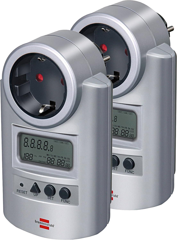 5er Pack Brennenstuhl Energiemessgerä t Primera-Line PM 231 E silber, 1506600
