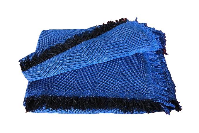 MercuryTextil Colcha Multiusos/Cubre sofás/Sobrecamas y colchas/Manta para Sofa 3 Plazas O Cama 135-150cm (Negro, 230 x 260 cm)