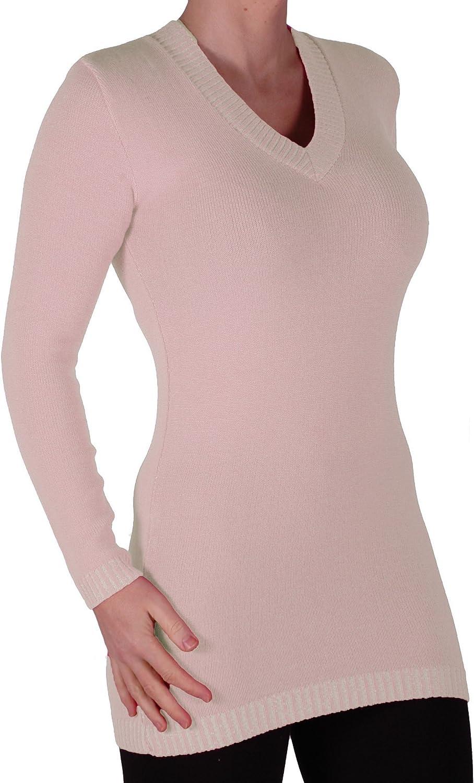 Eyecatch Gwen Womens V Neck Pullover Knitted Ladies Jumper One Size
