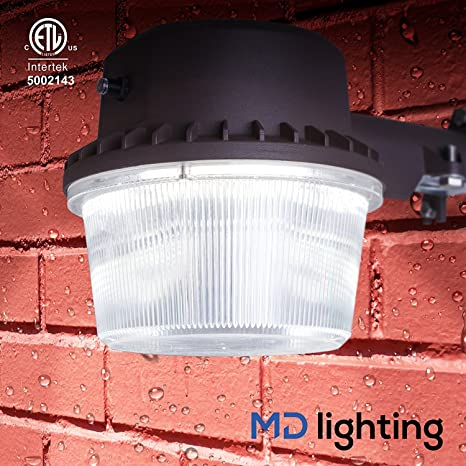 outdoor led flood light w dusk to dawn photocell weather proof 5