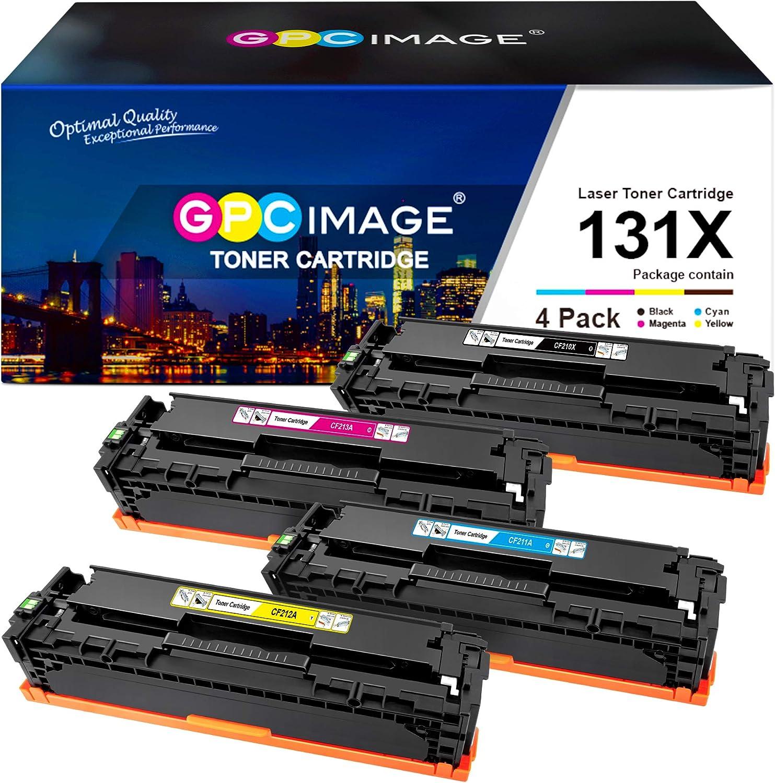 GPC Image Remanufactured Toner Cartridge Replacement for HP 131X 131A CF210X CF211A CF212A CF213A with Laserjet Pro 200 Color MFP M276nw M251nw M251n M276n Printer (Black, Cyan, Magenta, Yellow)