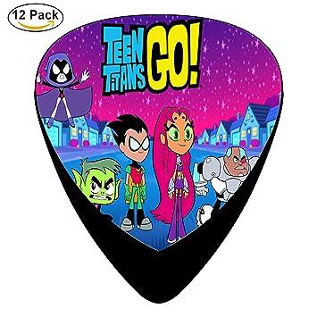 Teen Titans Go Púas de guitarra púa para guitarra eléctrica o acústica celuloide Pick Set: Amazon.es: Instrumentos musicales