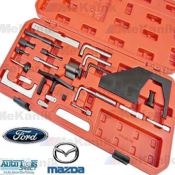 Juego de herramientas para bloqueo de ajuste de distribución para Ford Mazda 1.4 Duratorq - -2.4 TDCi Duratec: Amazon.es: Coche y moto