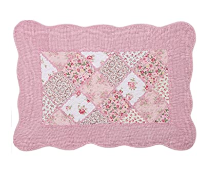 Swell Shabby Chic Vintage Pink Floral Patchwork Quilted Cotton Bedroom Bath Floor Mat Rug Home Interior And Landscaping Synyenasavecom