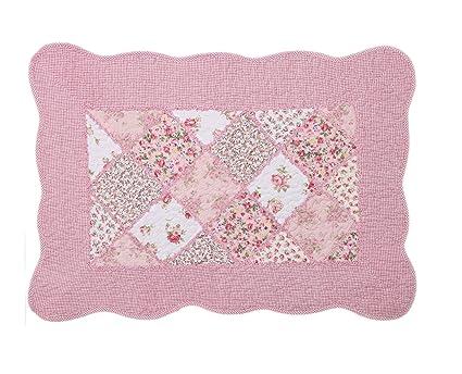 Strange Shabby Chic Vintage Pink Floral Patchwork Quilted Cotton Bedroom Bath Floor Mat Rug Home Interior And Landscaping Fragforummapetitesourisinfo