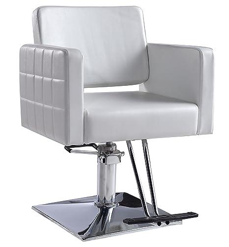 Amazon.com: Generic barbero silla, color blanco Peinado Del ...
