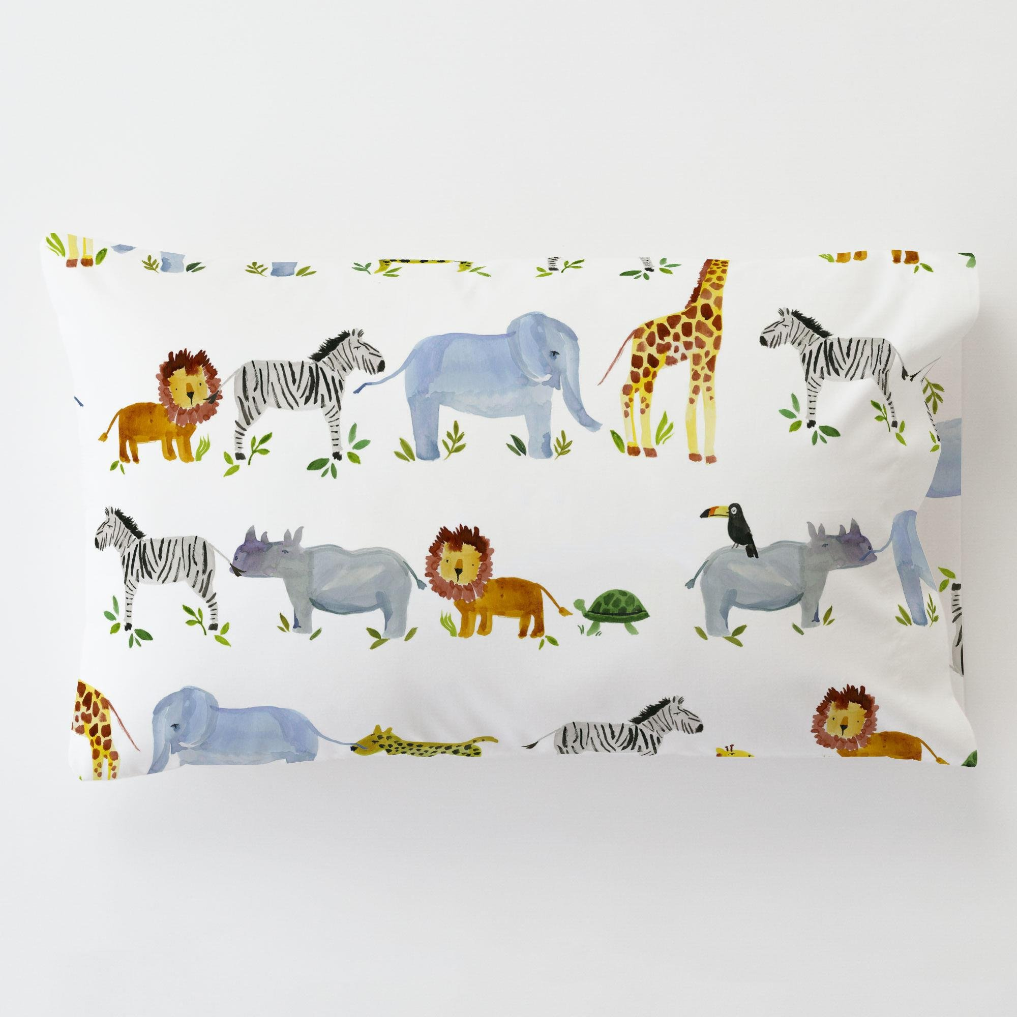 Carousel Designs Painted Zoo Toddler Bed Pillow Case with Pillow