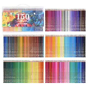 150 Watercolor Pencils Professional Water Soluble Colored Pencils - Coloring-pencils