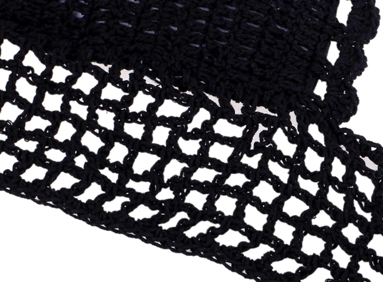 Zeagoo® para mujer hecho a mano punto de ganchillo recorte de encaje halter Tops bañadores Negro negro: Amazon.es: Ropa y accesorios