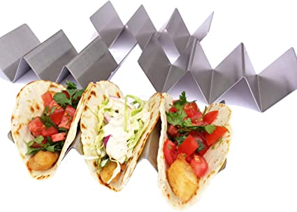 Original Taco Tender Taco Holders 8, Blue Holds Three Tacos in Each Taco Holder