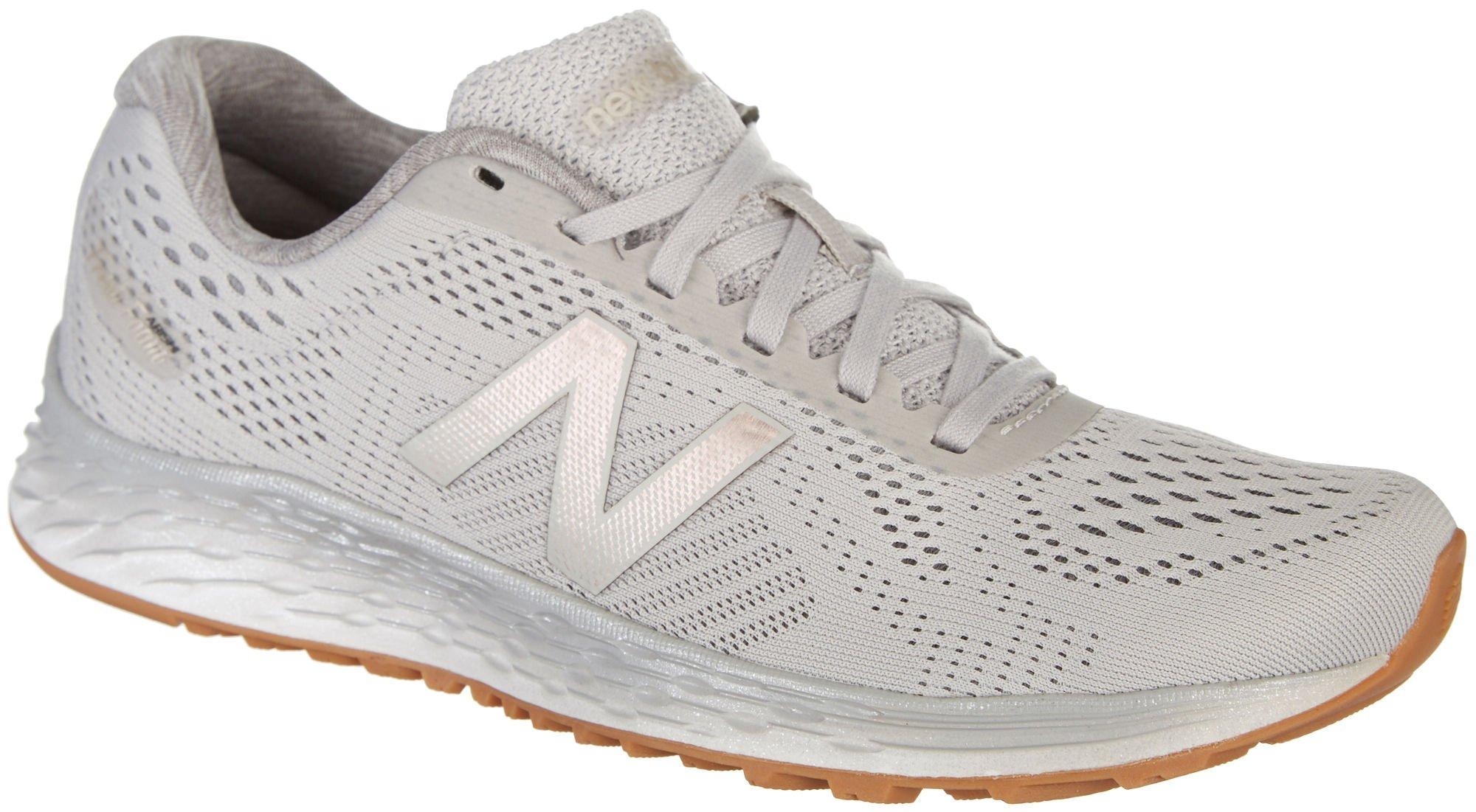 New Balance Women's Fresh Foam Arishi v1 Running Shoes, Light Grey, 9 B US