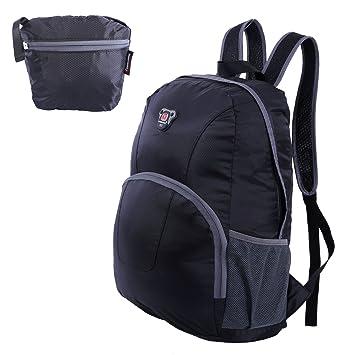 Mochila de viaje plegable portátil senderismo Daypacks, ligero resistente al agua plegable mochila: Amazon.es: Deportes y aire libre
