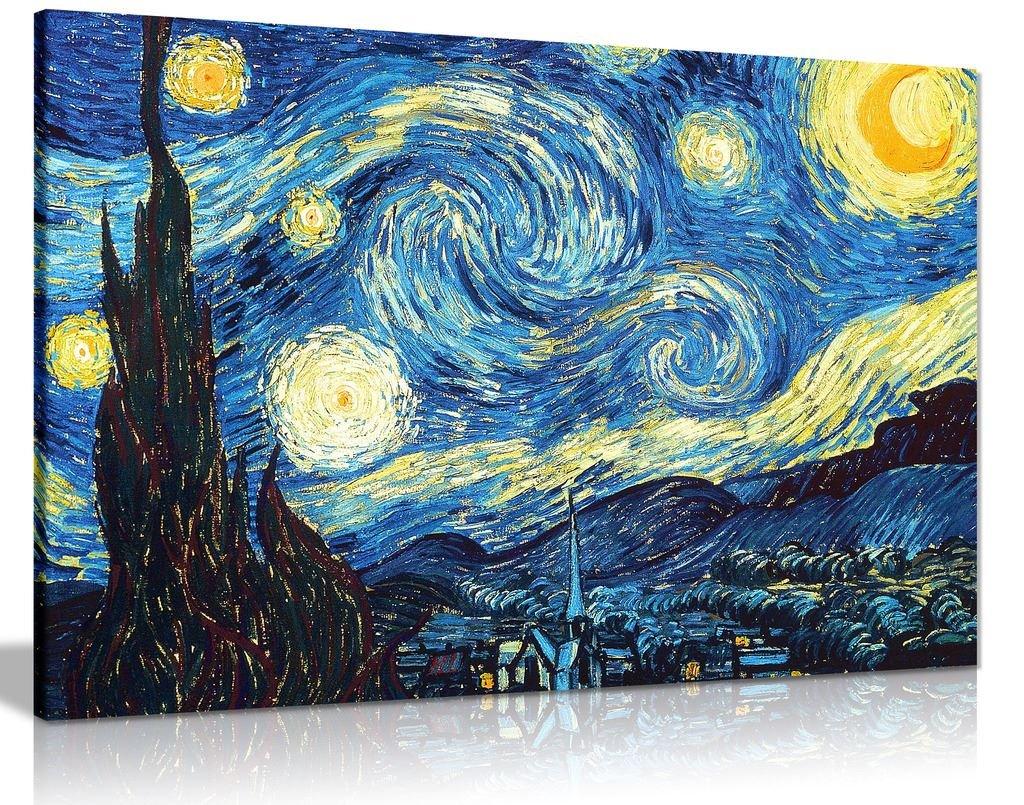 Leinwandbild, Motiv  Vincent Sternennacht, Vincent  Van Gogh, A0 91x61cm (36x24in) e6e74f