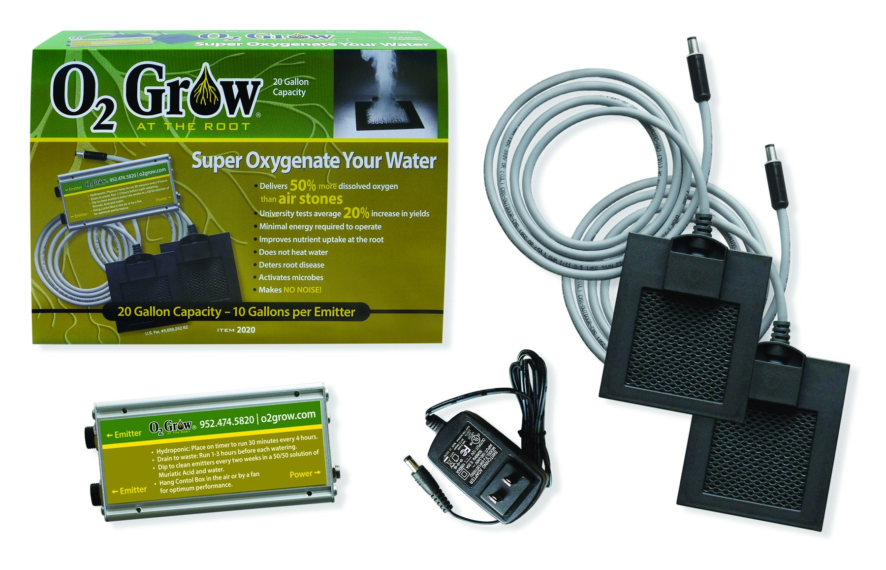 O2 Grow Dissolved Oxygen Emitter 2020 - 20 Gallons by O2 Grow