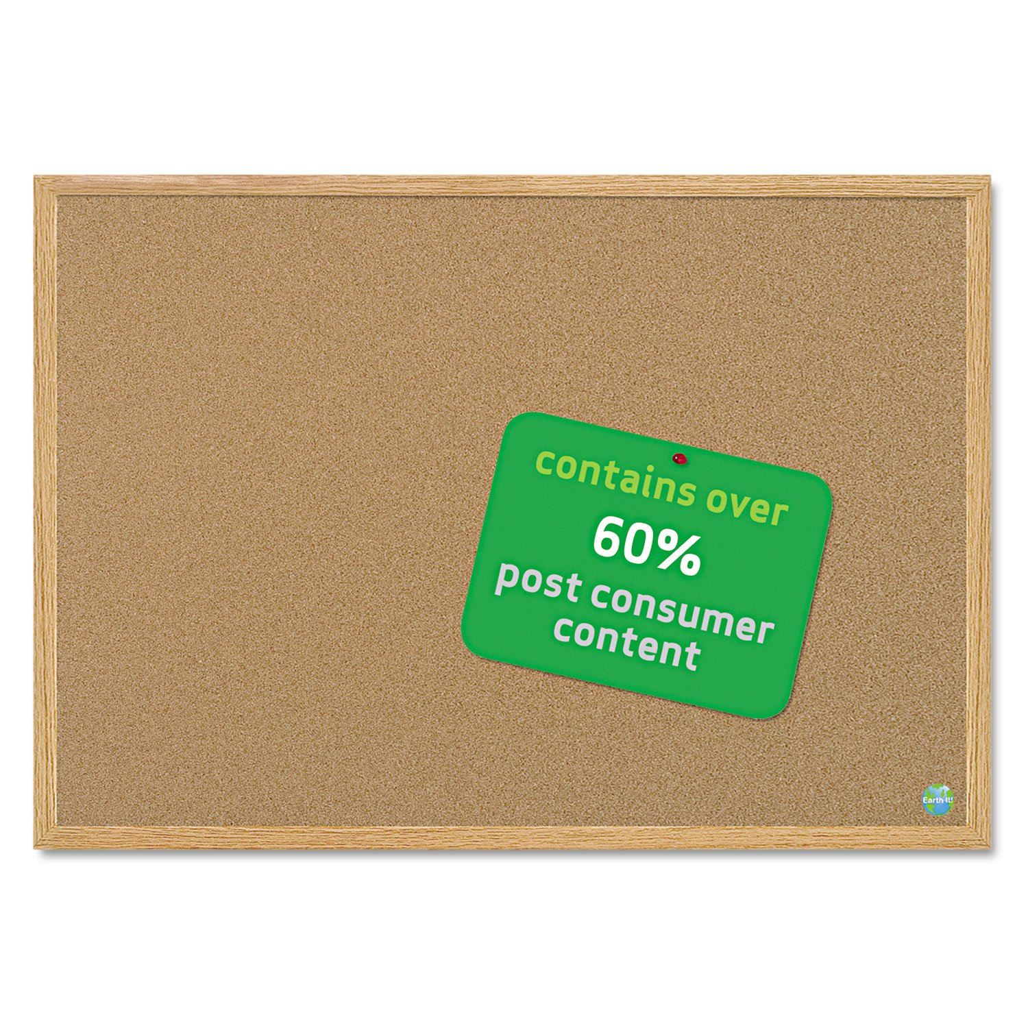 MasterVision SB0720001233 Earth Cork Board, 36 x 48, Wood Frame by MasterVision