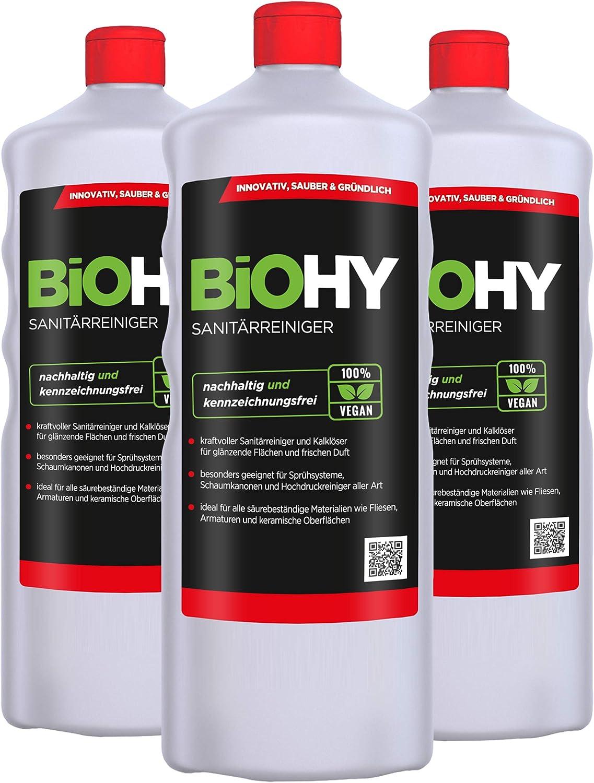 Biohy Sanitärreiniger Limpiador sanitario (3 unidades de 1 litro ...