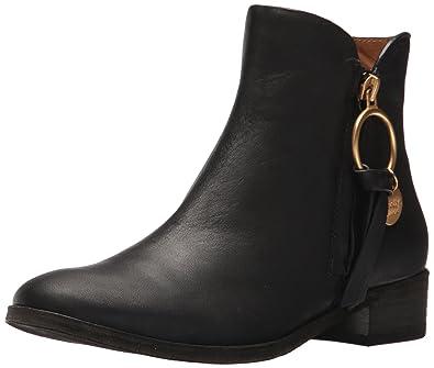 3bcdaa5b056 See By Chloe Women's Louise Flat Ankle Boot, Black, 40 M EU (10 US ...