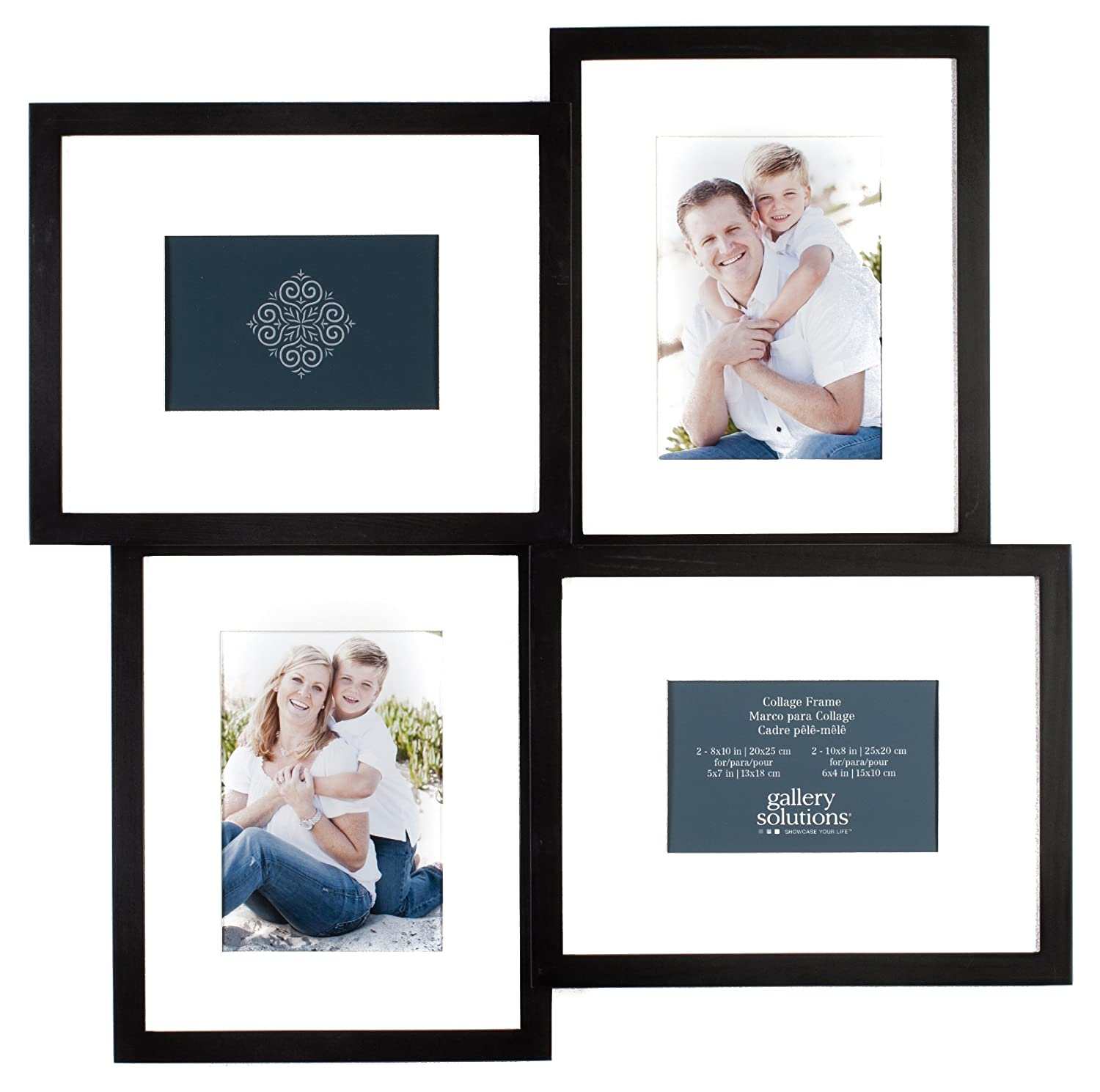 Amazon.com - Pinnacle 4-Opening Gallery Solutions 3D Collage Frame ...