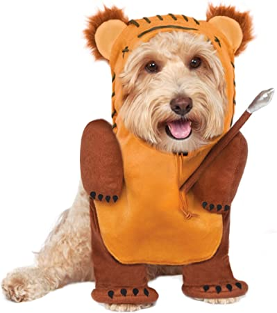 Rubies Official Star Wars Ewok Pet Dog Costume Small Neck to Tail 11 Chest 17