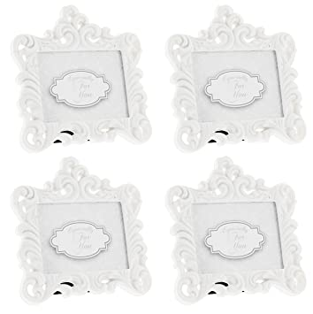 cf7954da1f2 Amazon.com  Fashioncraft Set of 4 Baroque Style White Resin Frames ...