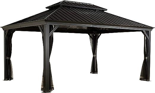 Sojag Messina - Pérgola de techo rígido, 3, 65 x 4, 85 m (color ...