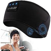Sleep Headphones Bluetooth V5.0 Sports Headband Sleeping Headphones Wireless with Ultra-Thin HD Stereo Speakers,Birthday…