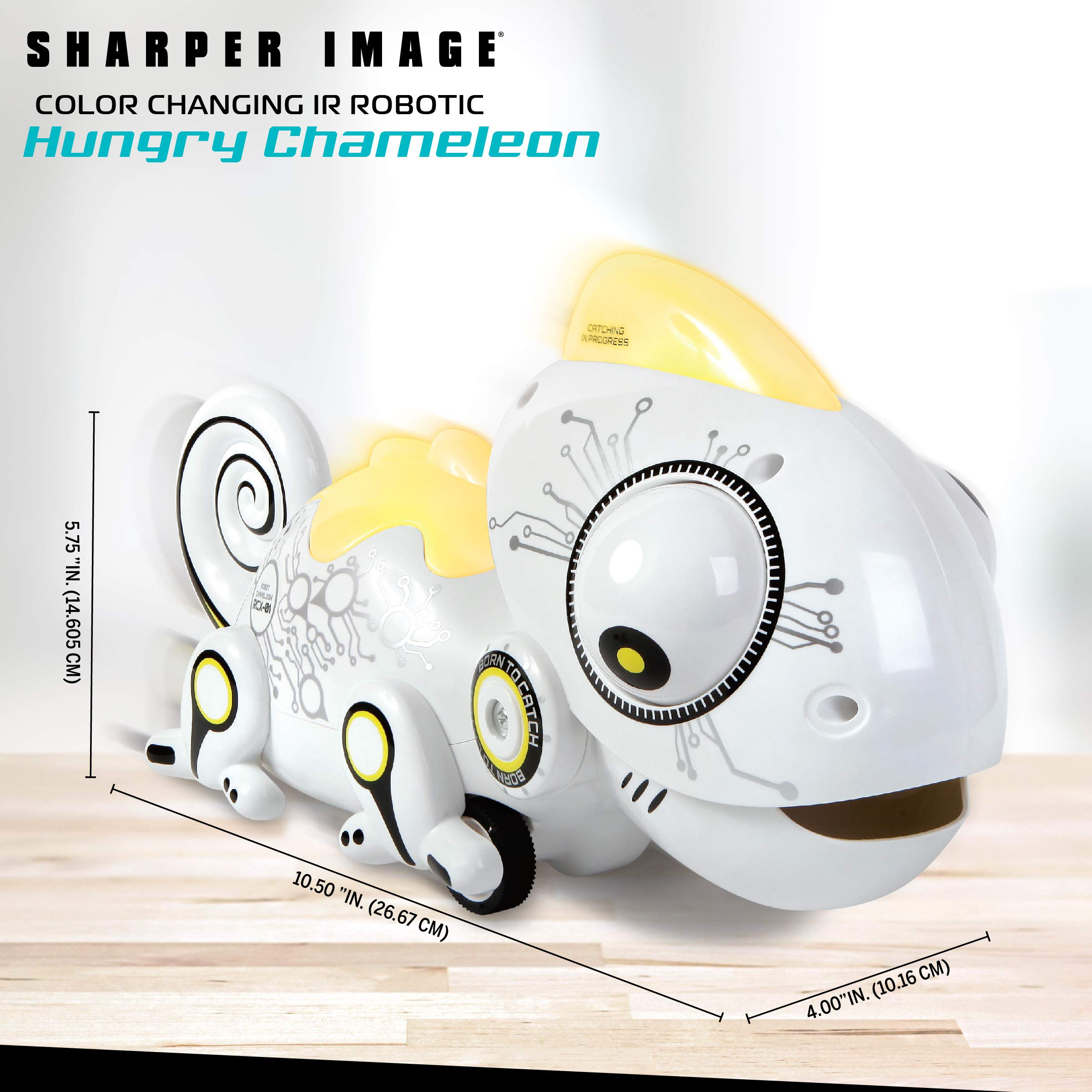 Sharper Image Color Changing RC Robotic Chameleon Toy with Multi Colored LED Lights and Bug Catching Action; Multi-Directional Remote Control & Extendable Tongue with Animated Eyes and Tail by Sharper Image (Image #7)