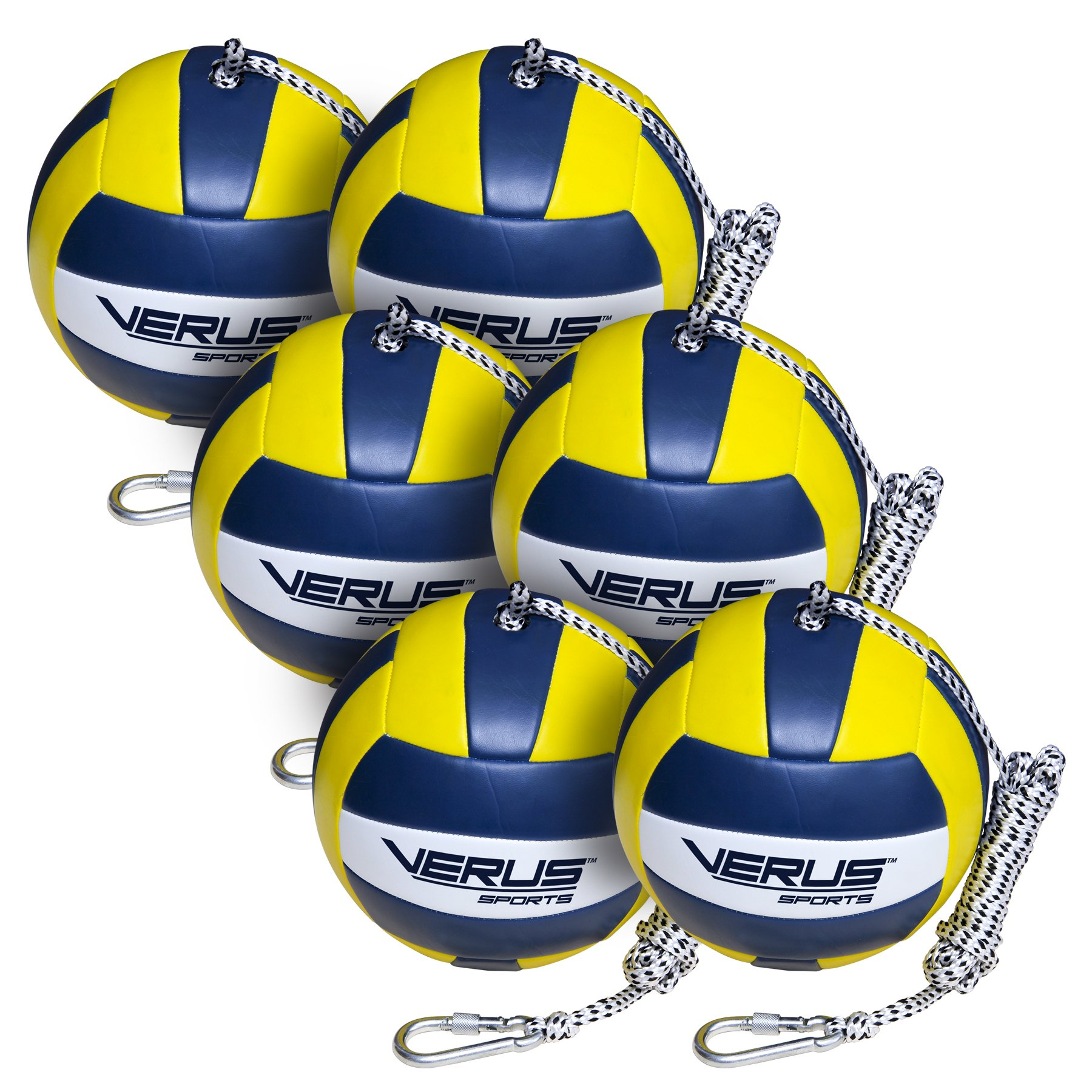 Verus Sports TO600-BALL-6A 6 Replacement Tetherballs Ball with Heavy Duty Rope & Clip by Verus Sports