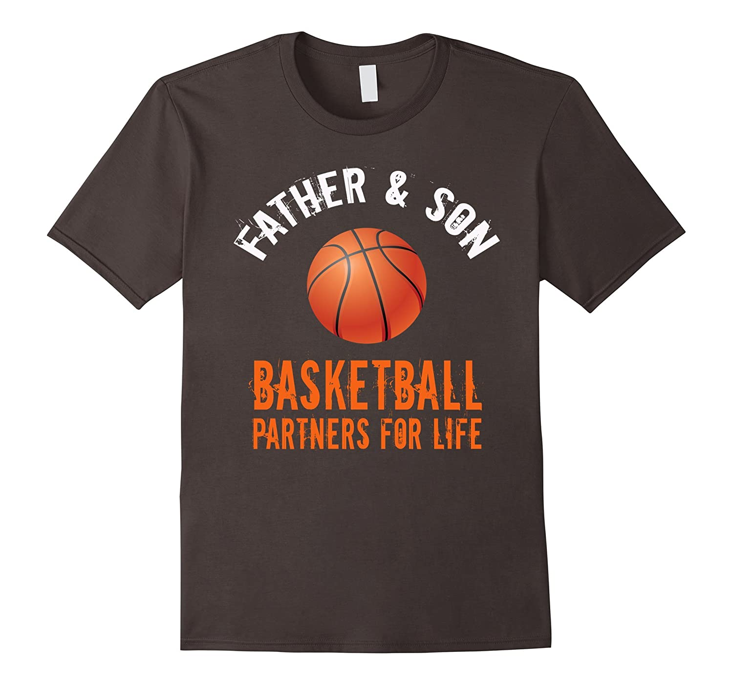 Mens Father  son basketball partners for life Dad funny t-shirt-Vaci