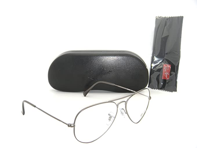 5d3d527800ca Image Unavailable. Image not available for. Colour: Ray-Ban Aviator  Eyeglasses RX6049 Matte Gunmetal RX Ready Frame RB 6049 2620 55MM