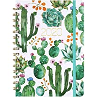 """Planner 2020 - Weekly & Monthly 2020 Planner Jan - Dec, 8.5"""" x 6.4"""", Flexible Hardcover, Strong Twin - Wire Binding, Thick Paper, 12 Monthly Tabs, Inner Pocket, Elastic Closure, Inspirational Quotes"""