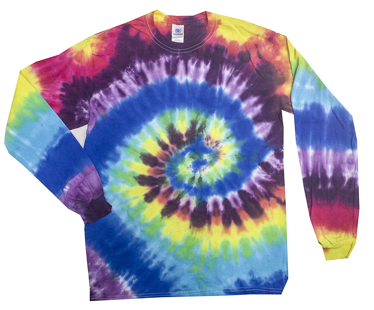 b7d765faff7327 Colortone Youth   Adult Tie Dye Long Sleeve T-Shirt  1541003676 ...