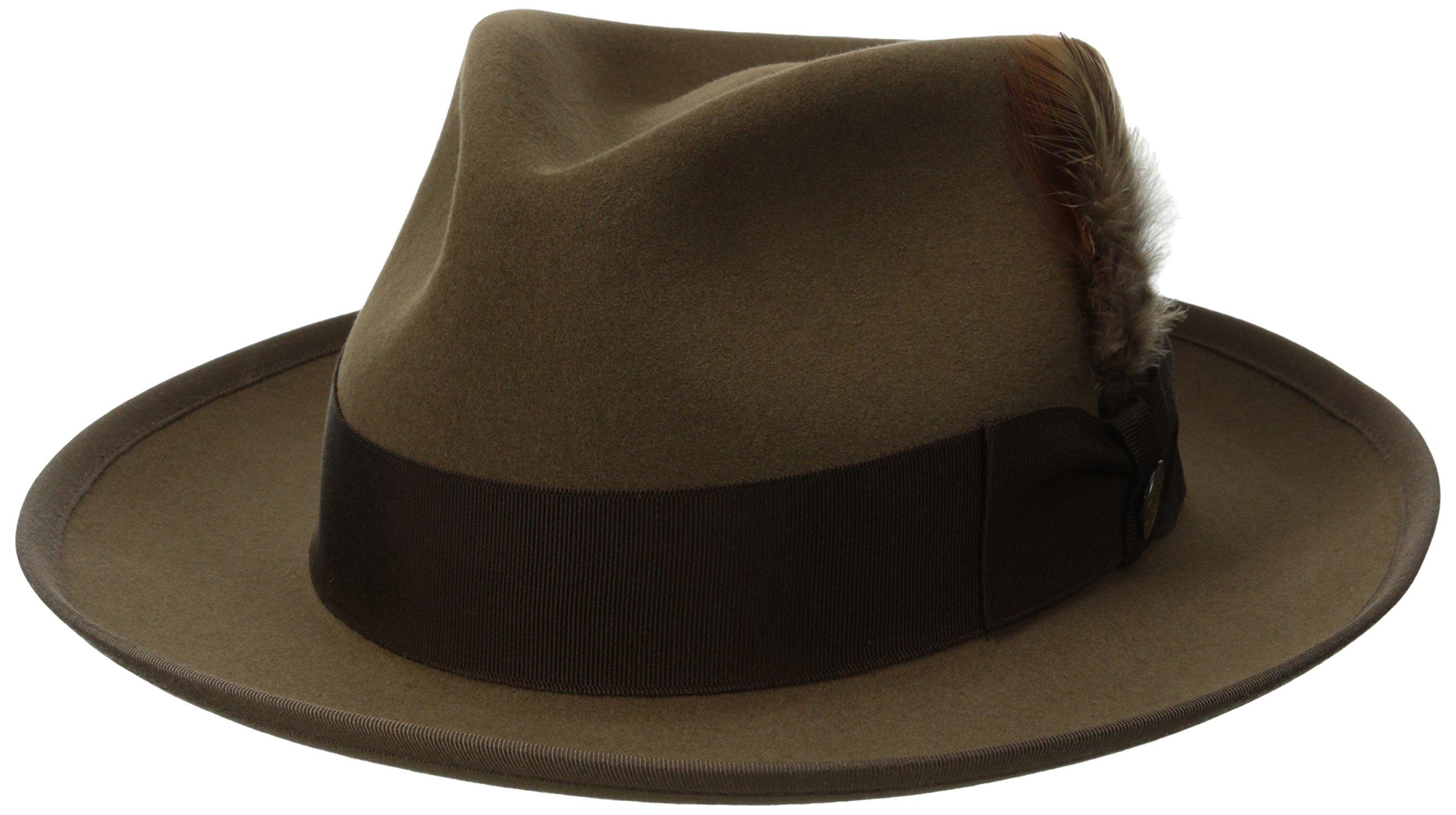 Stetson Men's Whippet Royal Deluxe Fur Felt Hat, Tawny, 7.5