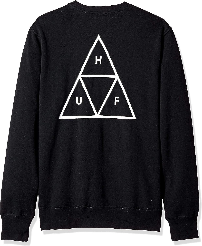 HUF Men's Essentials Tt Crew Sweater Black