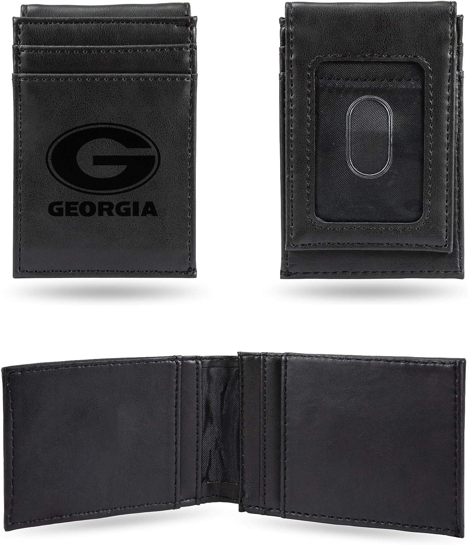 Georgia Bulldogs NCAA Rico Industries  Laser Engraved Front Pocket Wallet