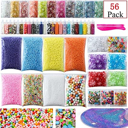 Slime Supplies Kit 56 Pack para Homemade DIY Slime Party Incluye ...