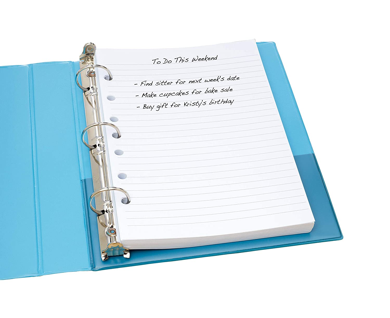 amazon com avery mini binder filler paper college ruled 5 1 2 x