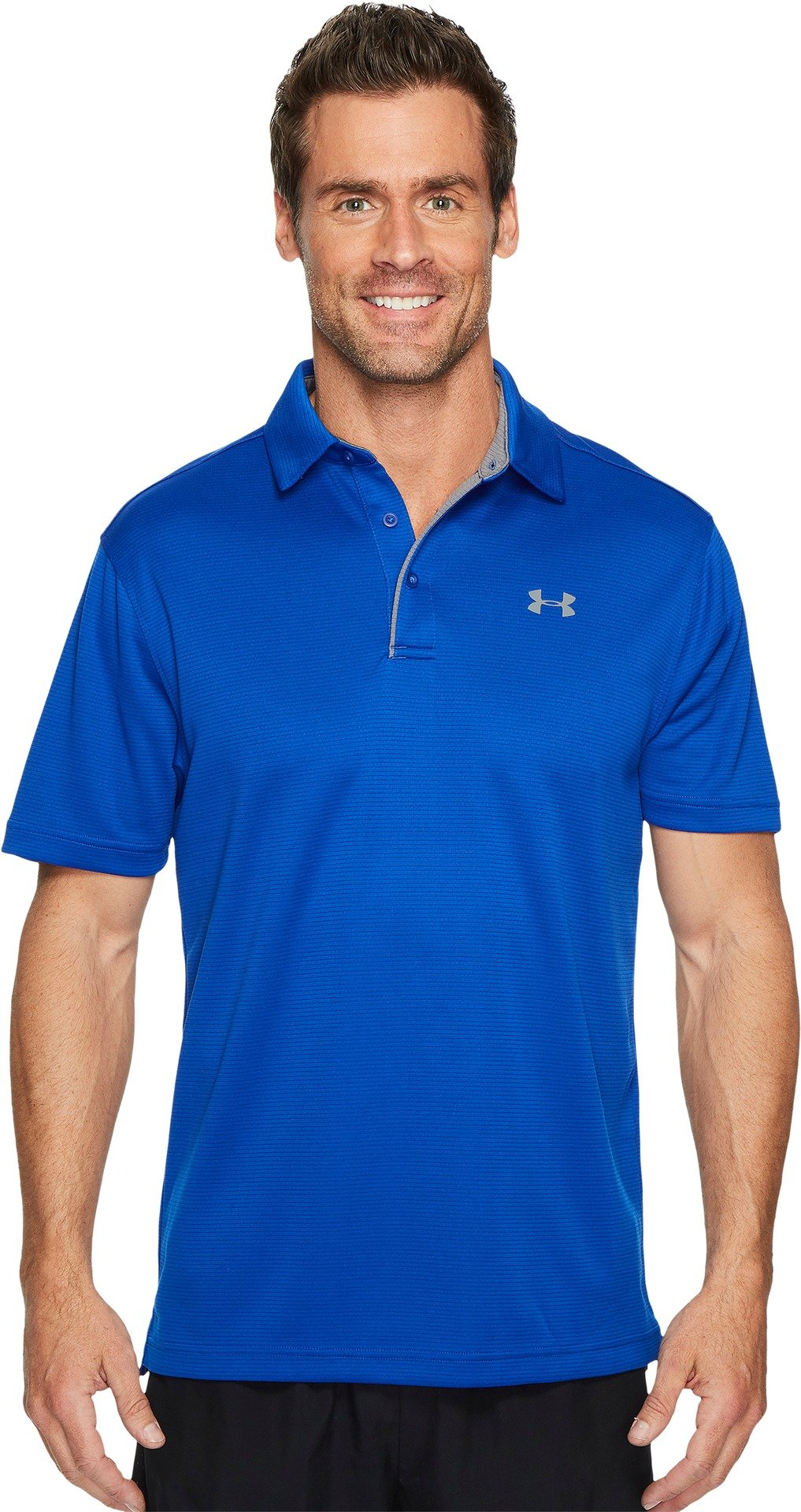 Under Armour Golf Men's Tech Polo Royal/Graphite/Graphite X-Small