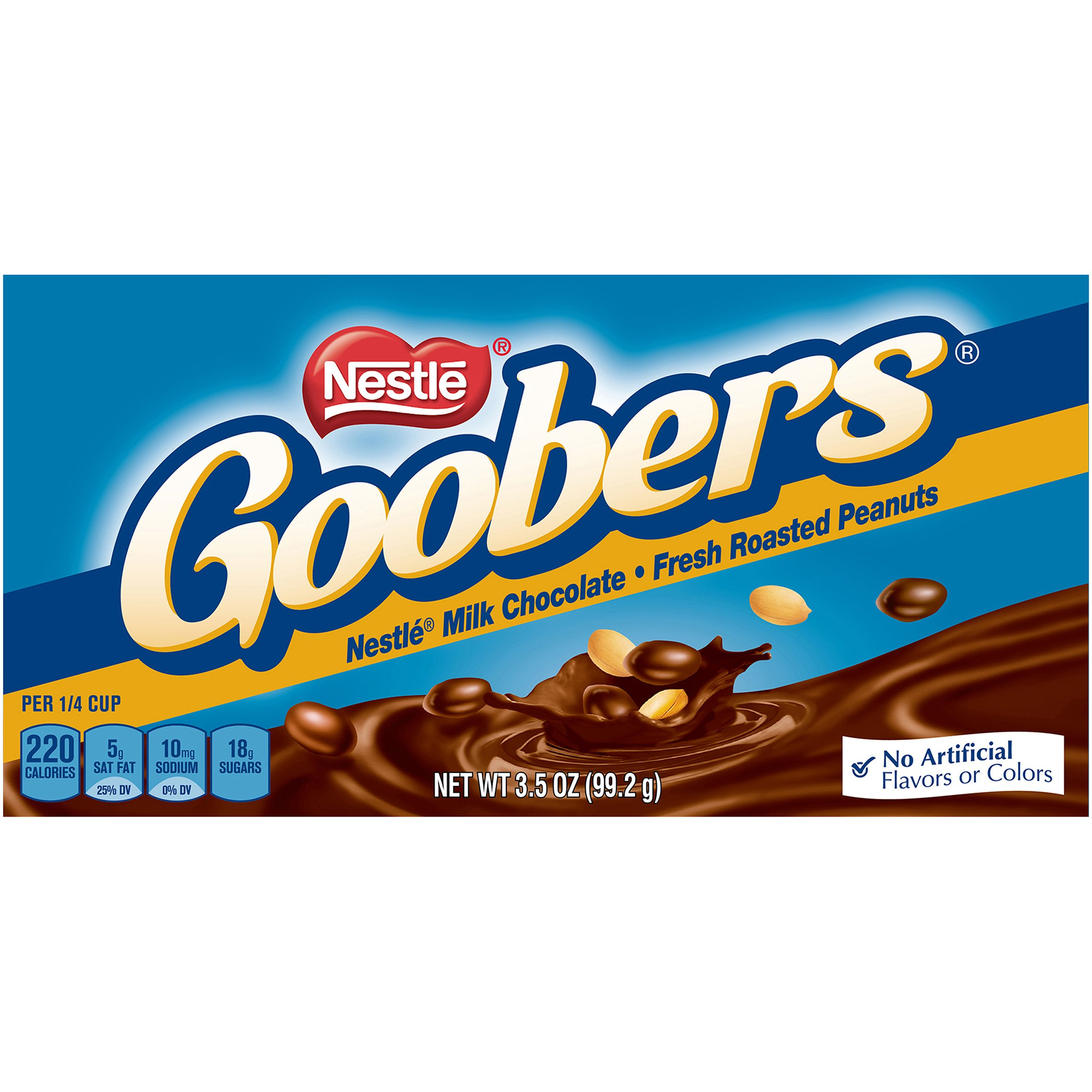 Goobers Fresh Roasted Peanuts with Classic Milk Chocolate, 3.5 Ounce (Pack of 15) by Goobers
