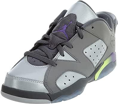 Jordan Nike Pre-School Air VI 6 Retro GP Dark Grey/Ultraviolet-Wolf Grey-Ghost Green Sneakers