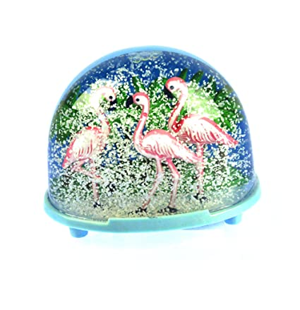 009b2abdd2c86 Image Unavailable. Image not available for. Color: W&P Pink Flamingos Snow  Globe