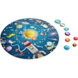 Hape Solar System Puzzle | Round Solar System Puzzle Toy for Kids, Solid Wood Pieces and A Glowing LED Sun