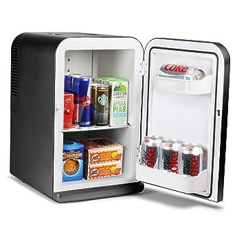15 litre mini fridge cooler and warmer black amazon co uk large