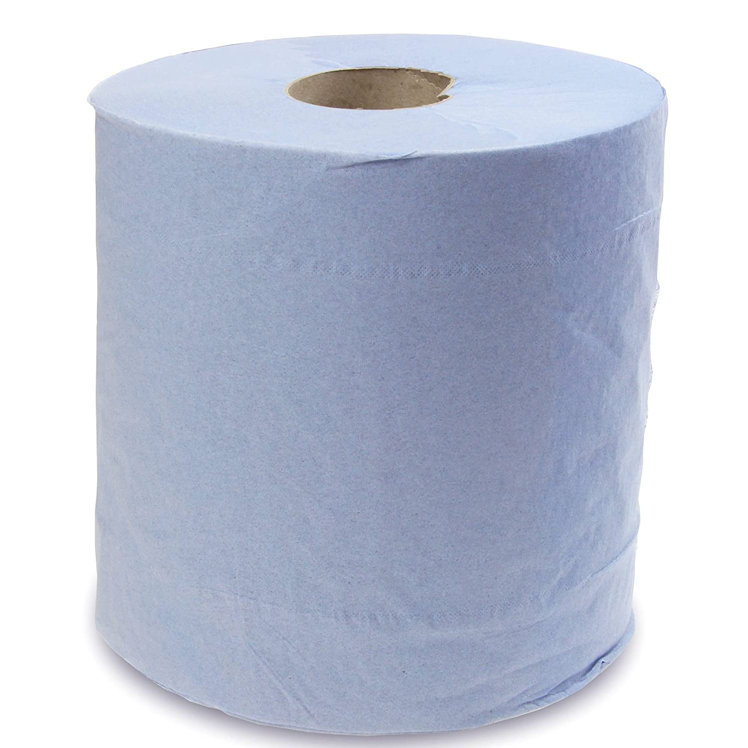 1x 2 ply blue tissue paper roll Center Feed Industrial Wipes Tissue for cleaning